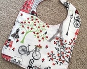 TODDLER BIB: A Walk In Paris, Personalization Available