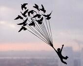 Higher than Sky - Handmade Papercut Home Decor Gift - UNFRAMED