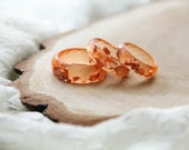 Sienna Resin Ring, Faceted Sienna Resin Ring With Copper Flakes, Epoxy Ring, Unique Resin Jewelry, Gift For Mom, For Her, For Girlfriend