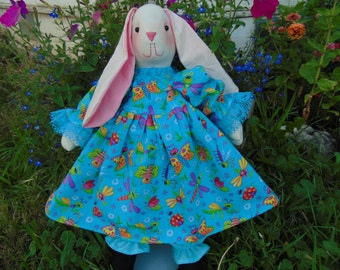 Janie the Stuffed Bunny Rabbit Doll
