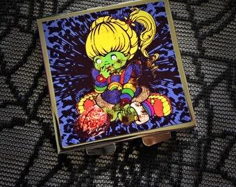 Rainbow Zombie compact mirror