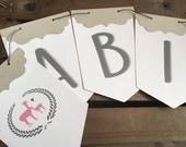 Llama Baby Shower Banner - CUSTOM Choose your Colors - Alpaca - Eco Friendly - Pennants