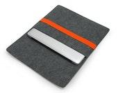 "20% discount!  Felt Macbook Case Macbook Sleeve Macbook Air 13"" New / Old Sleeve Case 11'' 15'' Laptop Bag with Yellow / Orange Band E1148"