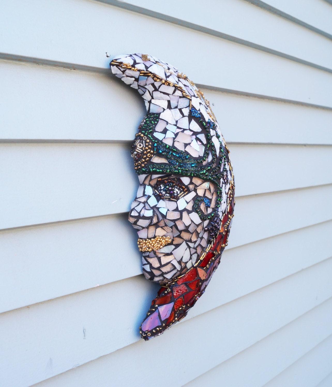 Lady Glass Mask Goddess Mosaic Garden By PiecesofhomeMosaics