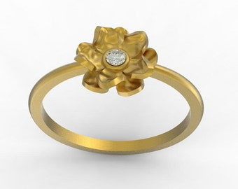solid gold rose ring