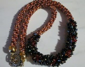 Waves of Amber Kumihimo Necklace