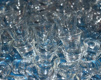 What to do with 148 vintage glass communion cups? arts/crafts/shots/shooters/whisky tasting/wedding decor?