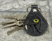 Monster Leather Key Ring Fob Hand Made With Face Eye Key Purse Charm Harry Potter Labyrinth
