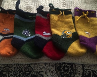 Custom Made Sports Teams Felted   Stockings