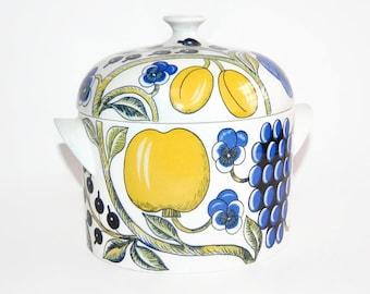 Arabia Finland Paratiisi Covered Dish Vintage Midcentury Scandinavian Design