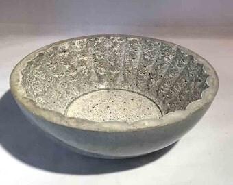 Concrete Fluted Bowl