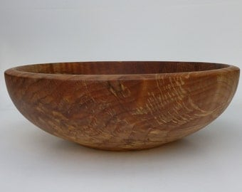 Wooden Bowl Maple Bowl Large Spalted Wooden Bowl Hand Turned Bowl Salad Bowl