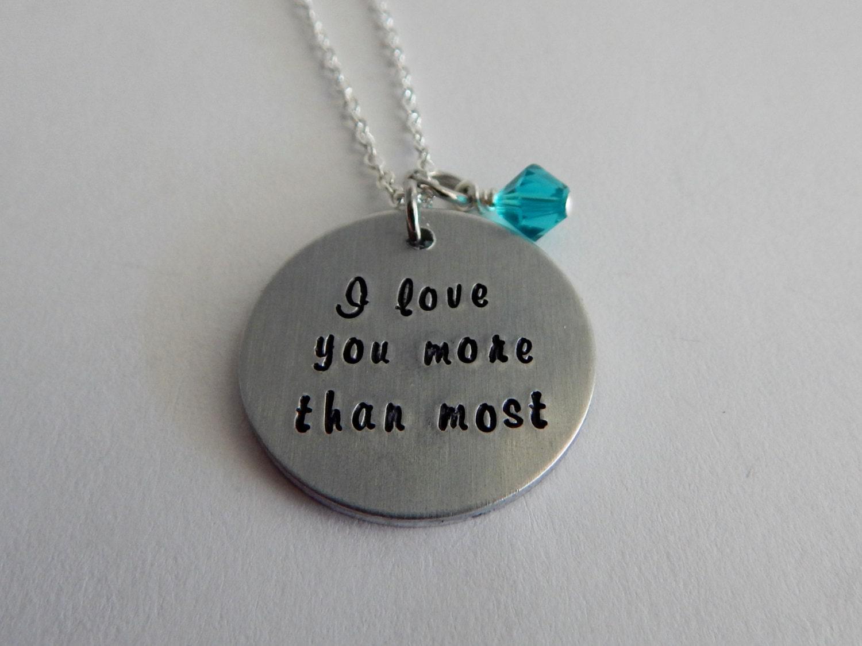 Love You Most Locket Necklace | Zazzle.com