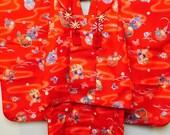 Antique Japanese Kimono and Overcoat for Children