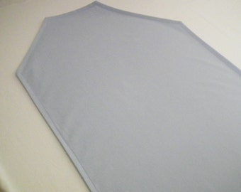 """On clearance, flawed solid color sky blue table runner   72"""" x 12""""   ready to ship"""