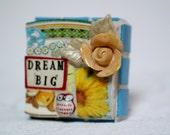 DREAM BIG,  mosaic wall art, gift