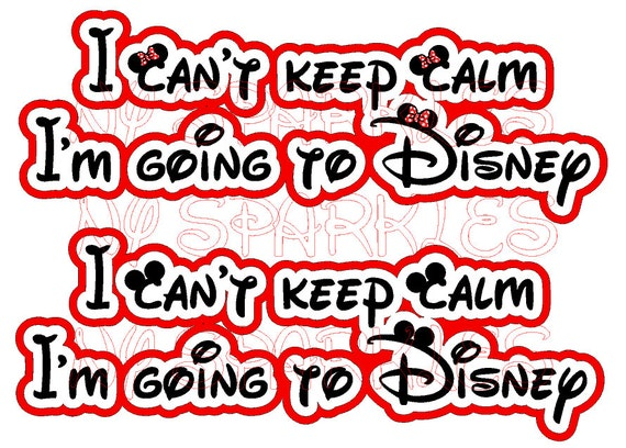 Items similar to i can 39 t keep calm i 39 m going to disney for Where can i go on vacation