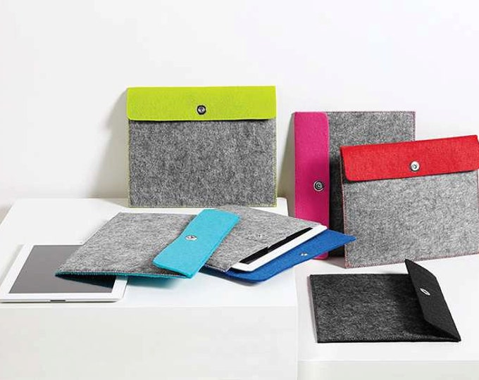 Customized Felt Tablet Sleeves/Monogrammed Tablet Sleeve/Personalized tablet sleeve/E-reader case/sleeve/
