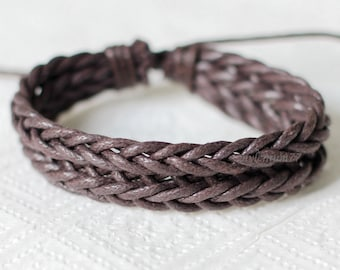 842 Men's brown ropes bracelet Men bracelet Women bracelet Braided ropes bracelet Woven ropes bracelet Ropes jewelry Gift for women and men