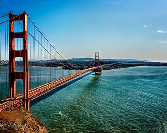 Golden Gate Bridge Panorama   San Francisco Bay   Sailboat   Nautical Art   San Francisco Landscape Photography   Large Wall Art  Canvas Art