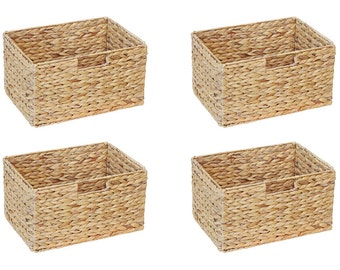 Basket made from water hyacinth for IKEA Billy shelf 4 set