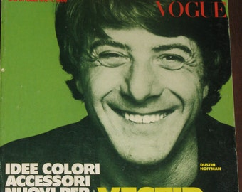Rare L'Uomo Vogue Magazine October 1976 Dustin Hoffman Cover