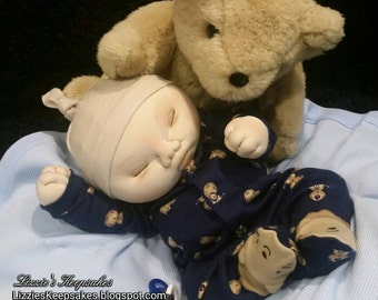 Baby Doll, CUSTOM ORDER, Lifelike Doll, weighted doll, plush doll, art doll, newborn doll, therapy doll, heavy doll, soft sculpture doll