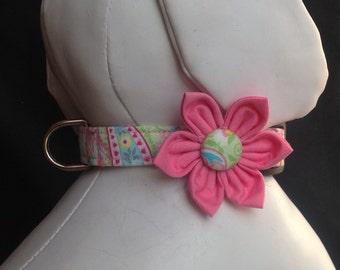 Dog Collar Flower Set - Pastel Paisley - Size XS, S, M, L, XL