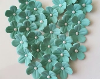 Gum Paste Blossoms  / 30 JADE  / Cake Toppe Cake Decorations