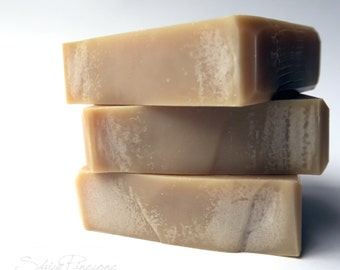 Tobacco Caramel Men's Soap- Handmade Cold Process Soap with Cocoa Butter and Kaolin