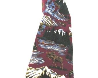 Vintage Max Raab Tango Wilderness silk tie
