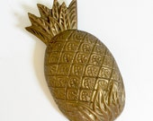 Vintage Brass Pineapple Wall Hanging, Pineapple Decor