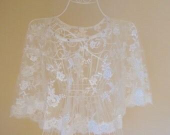 Wedding Lace Capelet,Poncho.