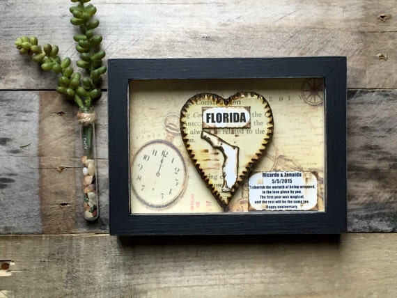 Anniversary gift men first shadow box