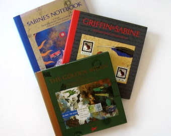 Set of 3, The Griffin and Sabine Trilogy, Vintage Books, Nick Bantock, Collectible Art books, Illustrated, pop up, gift idea
