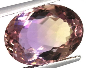 Natural Ametrine 5.67 Carat Oval Purple Gold Bolivia