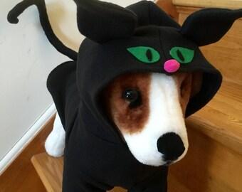 Black cat costume by FiercePetFashion