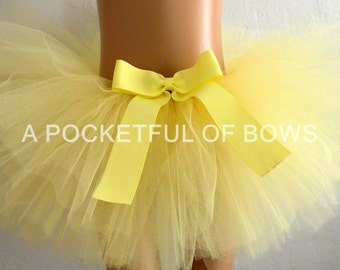 Yellow Tutu Skirt, Yellow Toddler Tutu Skirt, Birthday Girl Tutu Skirt