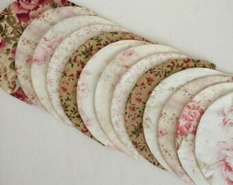 Set of 13 Fabric Scallops.