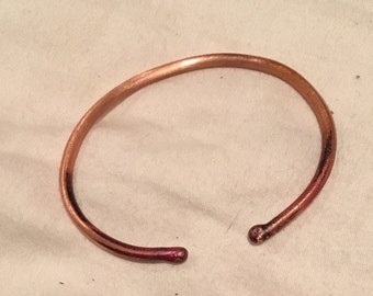 copper bangle/cuff bracelet, basic,light,easy to wear, pure copper bangle,handmade