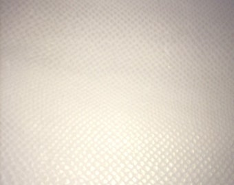 White Leather, Anaconda embossed with Silver Hand Wipe     (A)