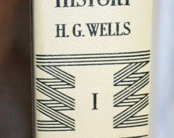 The Outline of History by H G Wells, Volume I as printed in 1961, DoubleDay and Co.; Antique Book; textbook; History Book 1960s reprint