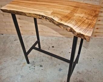 Live Edge Maple Sofa Table