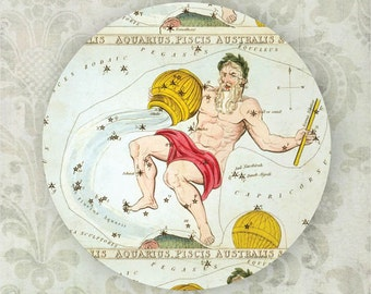 Aquarius constellation melamine plate