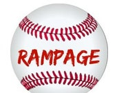 "Custom Listing - Baseball bottle cap with team name ""Rampage"""