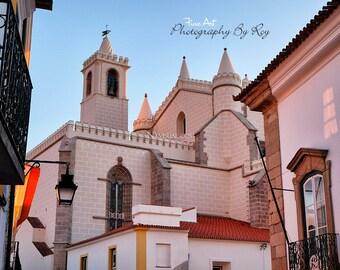 Igreja e Mosteiro de São Francisco Evora, Portugal. Original Fine Art Photography. Europe Evening architecture (Chapel of Bones)