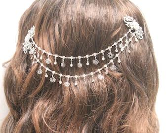 Wedding hair chain,Bridal hair accessories,Wedding hair jewelry vintage,Bridal hair piece,Wedding headpiece,Bridal hair jewelry,Wedding vine