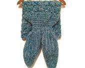 Ready to ship! Toddler size Crochet mermaid blanket