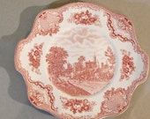Johnson Bros England Old Britain Castles Plate Ruthin Castle in 1792
