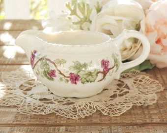 Harker Royal Gadroon Grapevine Creamer, Antique, Vintage, Wedding, Tea Party, French Farmhouse, Collectible, Ca. 1960's, Replacement China